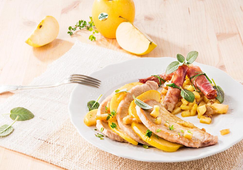 Scaloppe trentine con mele Golden Delicious e speck: originali, veloci e… buonissime!