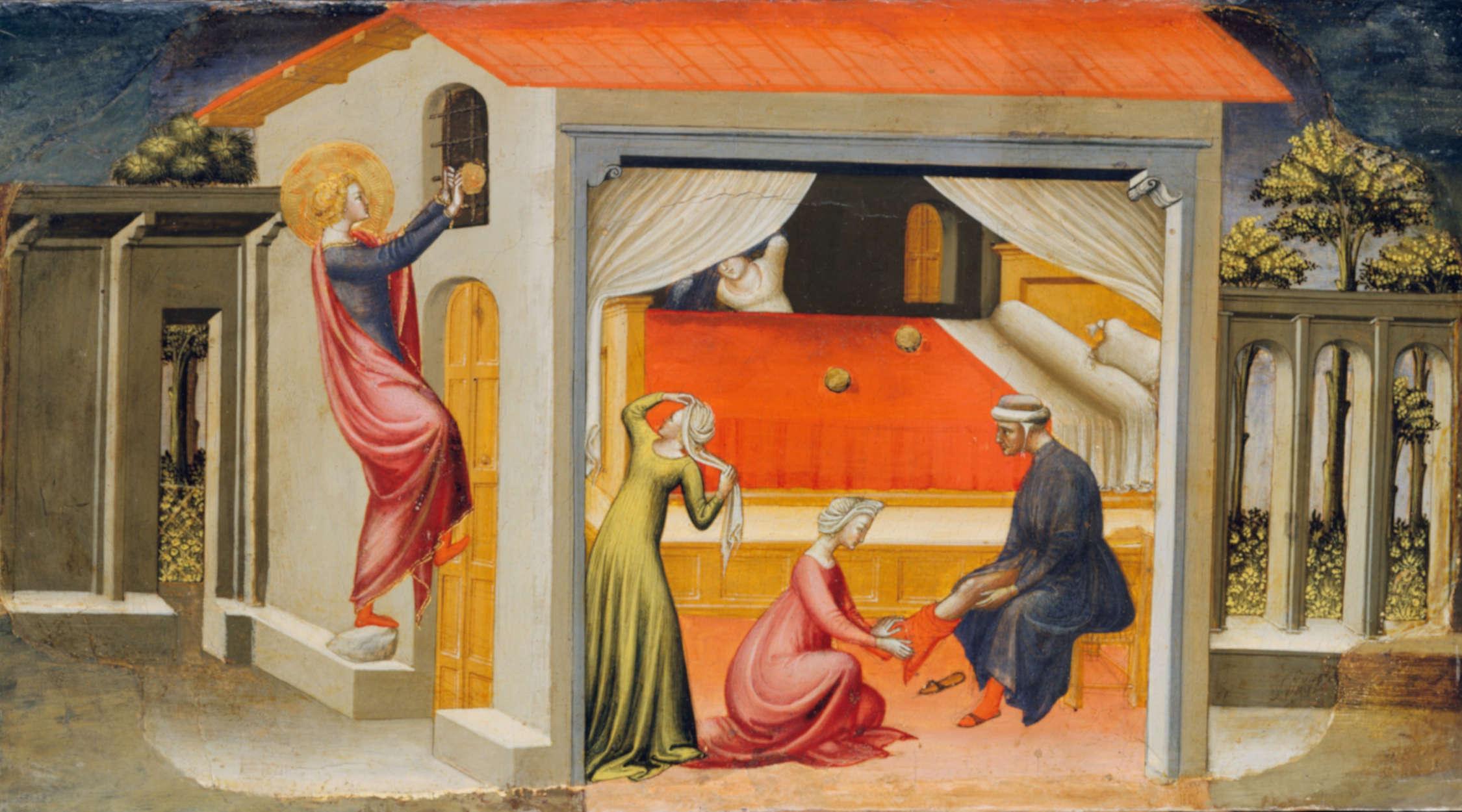 San Nicola e la dote | Bicci di Lorenzo | Immagine pubblico dominio | Metropolitan - New York