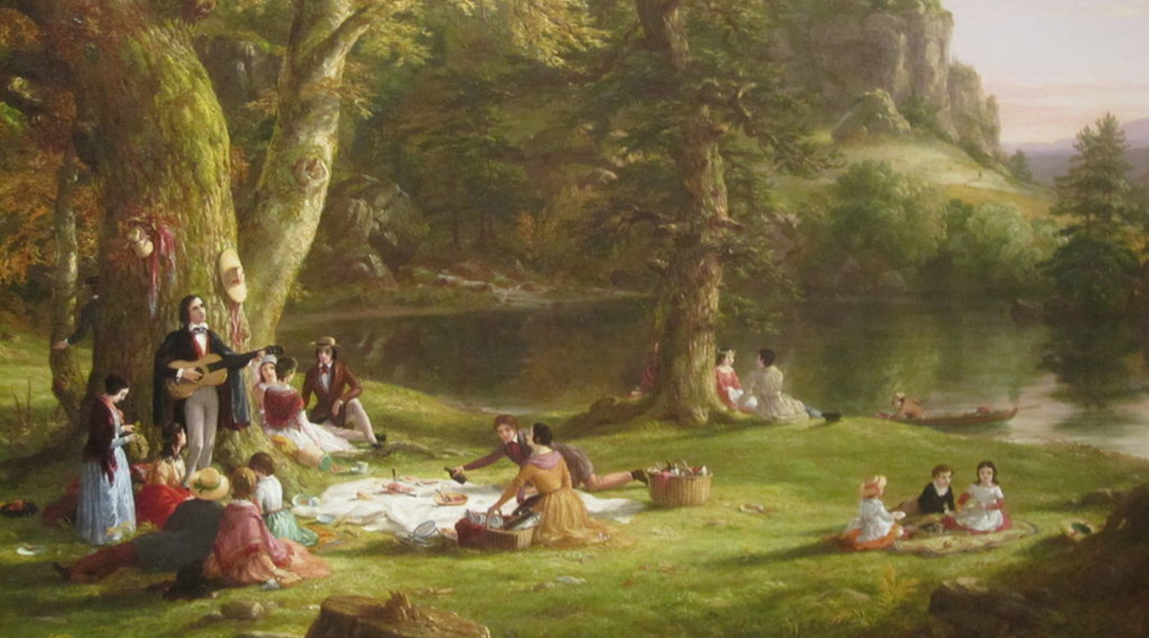The Picnic   Thomas Cole   1846   Brooklyn Museum